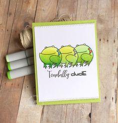 Dude card by Jill Hawkins for Paper Smooches - A Little Lovin', Critter Card Puns, Slang Gang #dude #handmadecard #jillhawkins #papersmooches #crittercard #slanggang