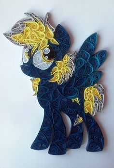 Quilling - Bolt Flash (MLP OC) by Sszymon14 on DeviantArt