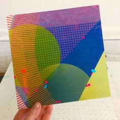 Kate created this dazzling one-off record sleeve (for Max Richter/Dream for this Secret project. Image Makers, Silk Screen Printing, Looking Up, Old And New, Art Direction, Printmaking, Geometry, Max Richter, Stencils