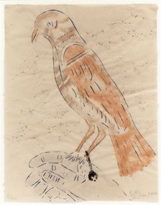Untitled (Bird with Bell on Hand) by Kiki Smith