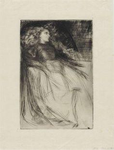 James McNeill Whistler - Weary Drypoint on Paper James Mcneill Whistler, Pablo Picasso Drawings, Art Drawings, Post Impressionism, Impressionist, Art Gallery, Freer Gallery, Catalogue Raisonne, Art For Art Sake