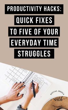 Productivity hacks for the busy entrepreneur: Quick fixes to 5 of your everyday time struggles. // Social Media with Priyanka // Full Service Digital Marketing and One On One Consulting for Small Business Owners and Solopreneurs