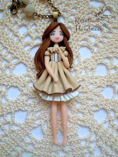 Vintage chibi girl polymer clay doll by KatalinHandmade on DeviantArt