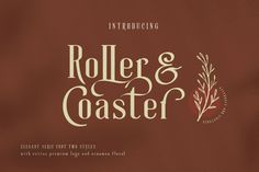 Roller Coaster Elegant Serif Extra Description: Roller Coaster is a serif that is decorative, vintage and antique and elegant. The neat and beautiful font shape makes this font easy to remember as a modern font. Best Serif Fonts, New Fonts, Premium Logo, Premium Fonts, Elegant Invitations, Invitation Cards, Invitation Layout, Wedding Invitations, Ios