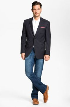 John Varvatos Star USA Wool Jacket, BOSS Black Polo & AG Jeans Straight Leg Jeans available at #Nordstrom