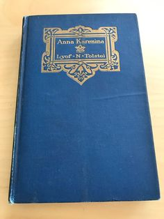 Antique Anna Karenina by Lyof Tolstoi Thomas Y Crowell New York 1899 Book