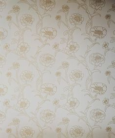 Peonies Removable Wallpaper, Gold Leaf - contemporary - Wallpaper - Tempaper