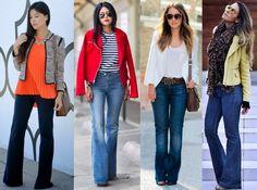 Jeans flare: a calça que modela o corpo e te deixa elegante - Dicas de Mulher