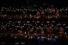 We lit of the night with our special lighting design with carnival light bulbs stung over the tabletops of our long dinner tables.  Every light bulb was hung at a various height. Carnival Lights, Dinner Table, Lighting Design, Bulbs, Light Bulb, Have Fun, Tables, Events, Night