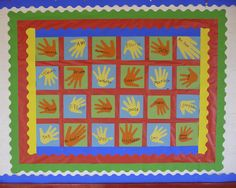 Hand Quilt - great for bulletin boards outside the classroom