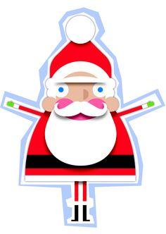 Santa jumping for joy