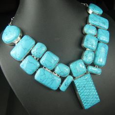 Exclusive Designer Genuine Turquoise Gemstone by Sterling925Shop