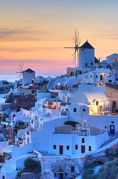 Santorini, Mykonos, Crete or Rhodes. Anywhere with white washed buildings, brilliant blue sea, winding cobbled streets and sleepy villages for sleepy baby's Santorini Sunset, Santorini Island, Santorini Honeymoon, Santorini Holidays, Santorini Travel, Dream Vacations, Vacation Spots, Places To Travel, Places To See