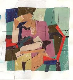 ken kewley Collages, Collage Art, Collage Ideas, Mural Painting, Figure Painting, Modern Art, Contemporary Art, Colorful Artwork, Window Art