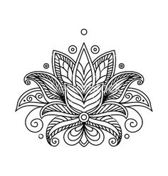 Persian or turkish paisley flower henna lotus vector by Seamartini ...