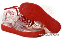 2f05e6e3c203 New Sport Adidas Obyo Jeremy Scott JS Wings Shoes Clear Red US Abrasion  Resistant 2012 TopDeals