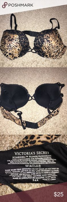 Victoria secret cheetah print bombshell bra 34A Excellent Victoria's Secret Intimates & Sleepwear Bras