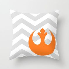 Star Wars Rebel Alliance Chevron Pillow by foreverwars on Etsy, $40.00