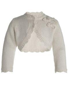 My Design Baby Judith Bow Cardgian | White | Monsoon