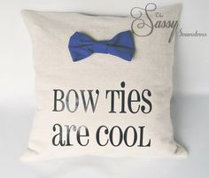 Doctor Who Pillow Throw Bow Ties are Cool   $23.00