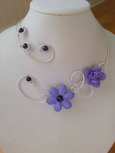 Hey, I found this really awesome Etsy listing at https://www.etsy.com/listing/196644044/statement-necklace-lilac-jewelry-wedding