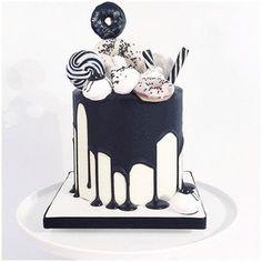Monochrome cake. Black and white sugar heaven.