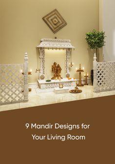 Pooja Room Door Design, Room Design Bedroom, Home Room Design, Home Interior Design, Living Room Designs, Living Rooms, Temple Room, Home Temple, Jaali Design