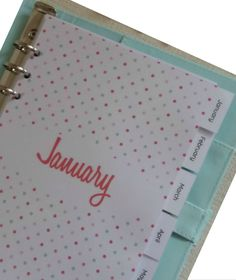 Download your free 2018 monthly printable calendar now! Available in A4, Letter and A5 size, you'll also receive a Year at a Glance calendar. Dividers coming soon!