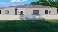 3 Bedroom House Plan - My Building Plans South Africa Round House Plans, My House Plans, Family House Plans, Village House Design, Village Houses, My Building, Building Plans, House Plans South Africa, Contemporary House Plans