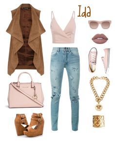 """""""Ida"""" by la-stevy ❤ liked on Polyvore featuring Dorothy Perkins, Yves Saint Laurent, STELLA McCARTNEY, Michael Kors, Ashley Stewart, Chanel, Converse, Versace and Lime Crime"""