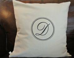 Letter D Monogram Pillow