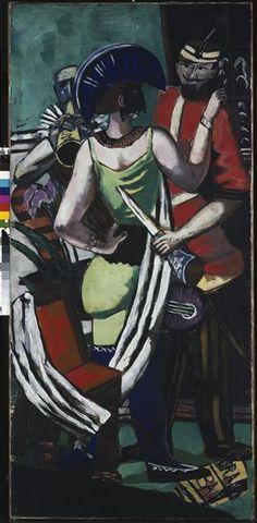 Mardi Gras à Paris Beckmann Max (1884-1950)