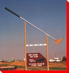 World's Largest Putter - Bow Island, Alberta