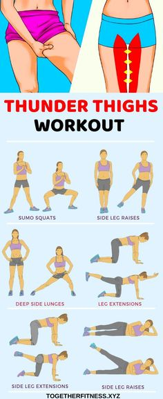 6 best exercises to eliminate thigh fat how to get a thigh gap get rid of fat between my thighs thighgap thigh exercises for tight toned inner and outer thighs Fitness Herausforderungen, Fitness Workouts, Gym Workout Tips, Fitness Workout For Women, At Home Workout Plan, At Home Workouts, Health Fitness, Workout Exercises, Stretching Exercises