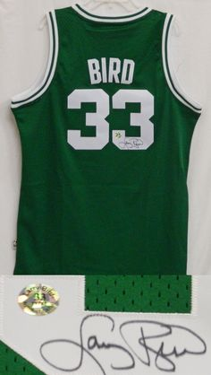 784d4d3cc Larry Bird Signed Celtics Green Adidas Swingman Jersey - Larry Bird COA