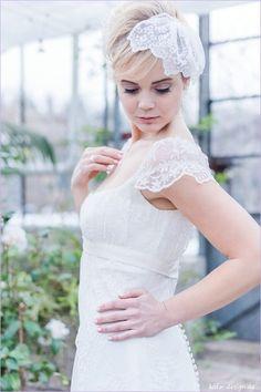 Brautschleier floral Spitze ivory Strass von kido-design auf DaWanda.com