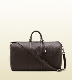 8f0600cf23b3 large carry-on duffle bag  1890 description dark brown guccissima leather  with dark brown leather