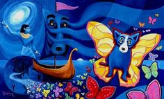 """""""A piece that brought us into the year 2000"""" ~George Rodrigue"""