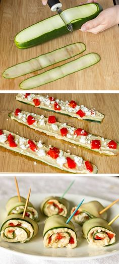 Mediterranean Cucumber Roll Ups | CookJino