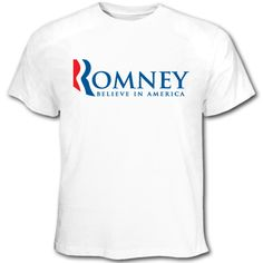 $19.95 -- This Mitt #Romney short sleeve t-shirt is ideal for campaign rallies or everyday wear.