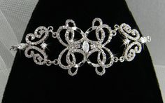 Bracelet de mariée cristal cristal Bracelet par CrystalAvenues