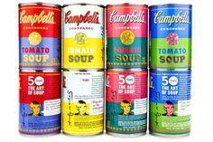 Campbell celebra los 50 años de 'espíritu Warhol' reeditando sus latas de sopa
