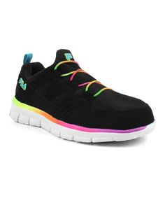 Black & Blue Rainbow Bungee Lace Sneaker - Women by FILA #zulily #zulilyfinds
