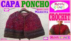 """CAPA/ Mañanita/ Poncho abierto CROCHET """"Maricita"""" (Parte 1) por Maricita..."""