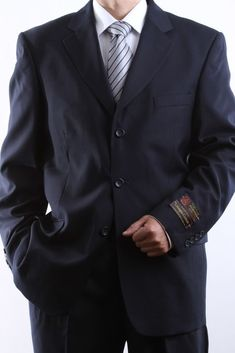 51c5f29623aa9 The chart below is for suit jacket size and its matching pants size. Superb  fabric with Italian pocketing. Its stylish design features a traditional  three ...