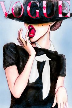 Danny Roberts illustration of a Vogue cover Vogue Paris, Arte Fashion, Vogue Fashion, Fashion Models, Chanel Fashion, Vogue Models, Editorial Fashion, Vogue Editorial, Chanel Style