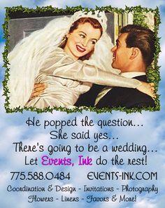 Engagement Season!  January Ad for Events, Ink. Cynthia Ferris-Bennett 775.671.2164 or Cynthia@SierraChef.com