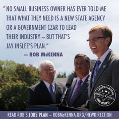 There's a clear choice on job growth in this election. Repin the McKenna Plan: http://rob.lc/jobs