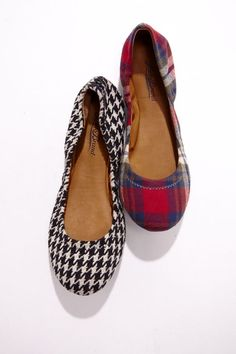 Foldable ballet flats by Lucky Brand. I prefer the plaid
