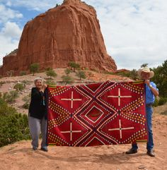 Navajo Serape with Spider Woman Hole